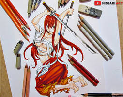 Erza Scarlet || Fairy Tail by HideakiArtReal