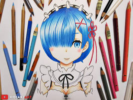 Rem || Re:Zero kara Hajimeru Isekai Seikatsu by HideakiArtReal