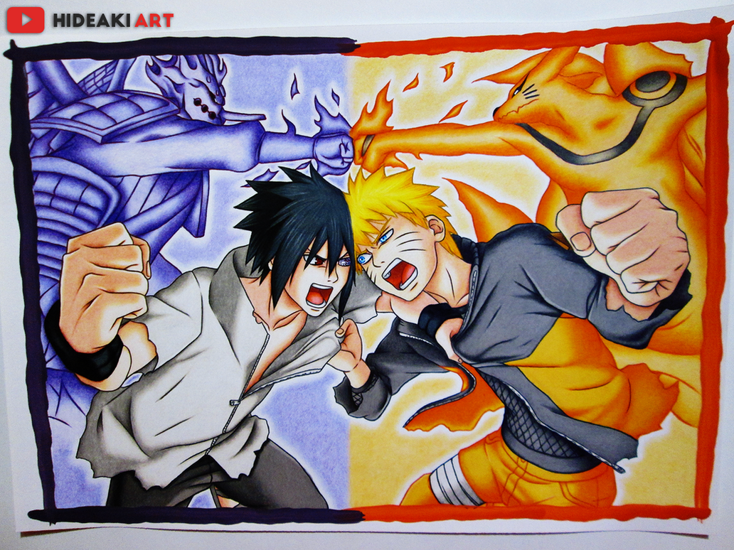 naruto vs sasuke final battle naruto shippuuden by hideakiartreal