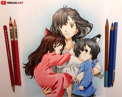 Hana, Ame and Yuki || Wolf Children