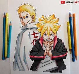 Naruto and Boruto Uzumaki || Naruto by HideakiArtReal