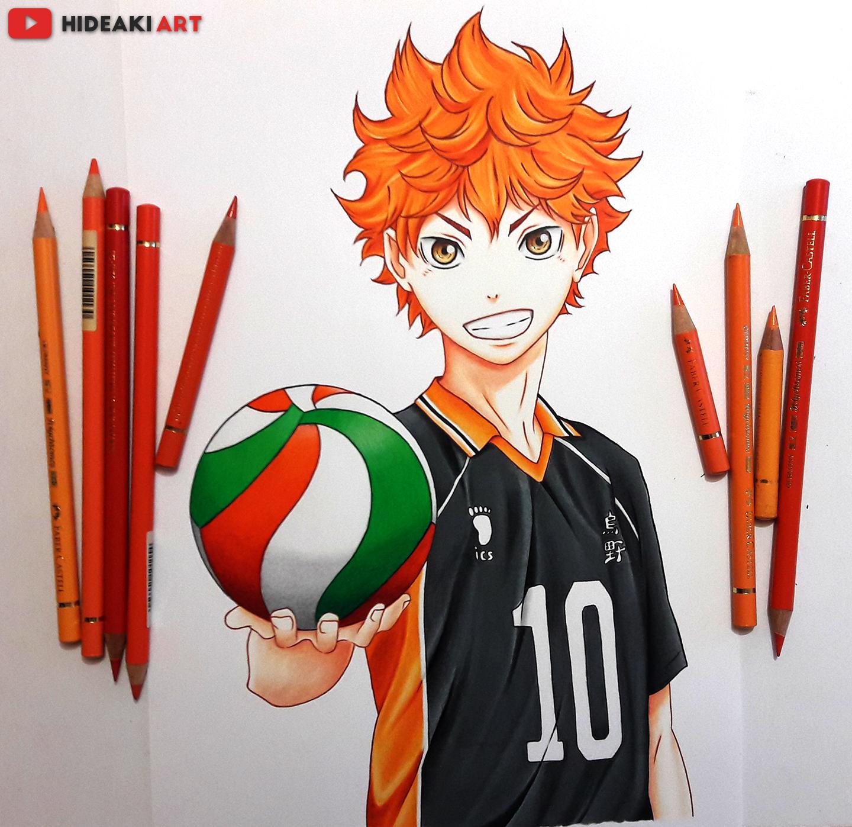 Нарисованные картинки аниме волейбол