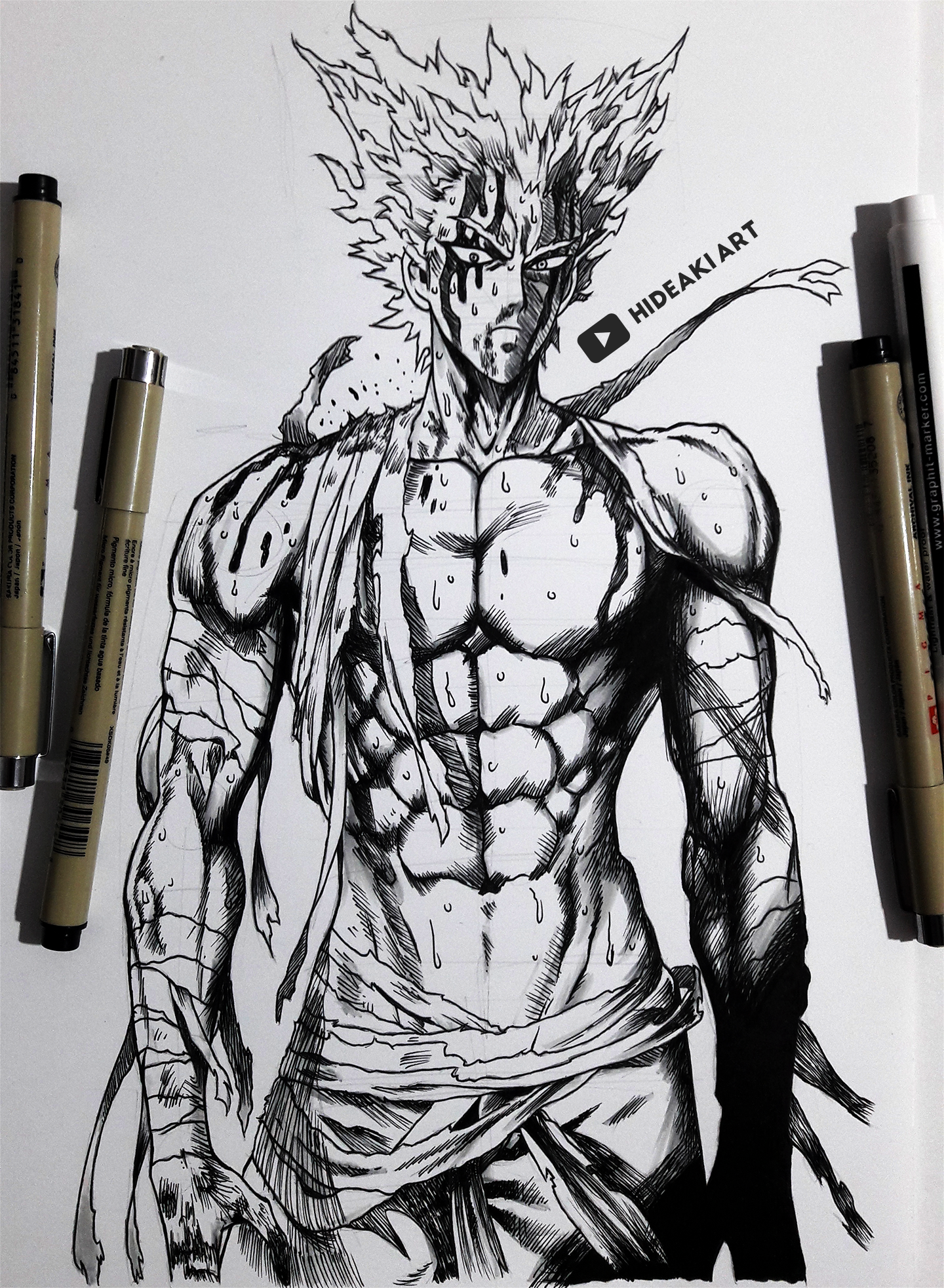 Garou One Punch Man By Hideakiartreal On Deviantart