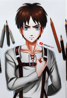 Eren || Attack on Titan by HideakiArtReal