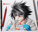 L    Death Note by HideakiArtReal