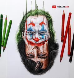 Joaquin Phoenix as the Joker by HideakiArtReal