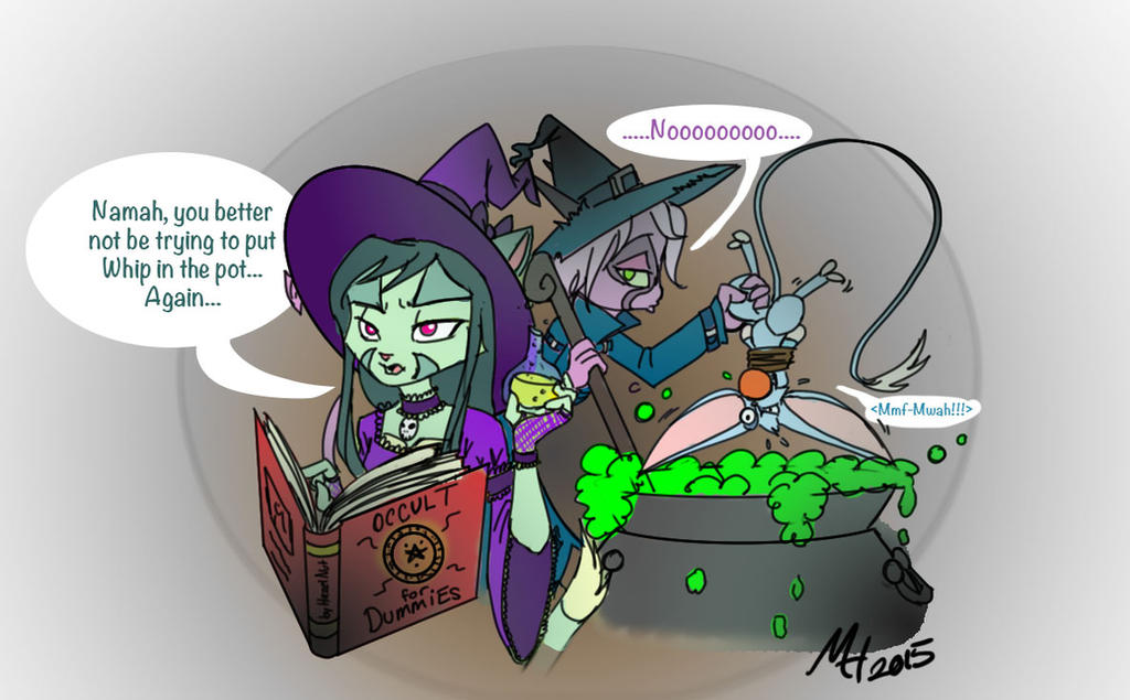 Boil and Toil Troubles (DK Halloween contest) by Shiver-Fire