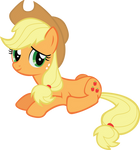 Applejack Laying Down