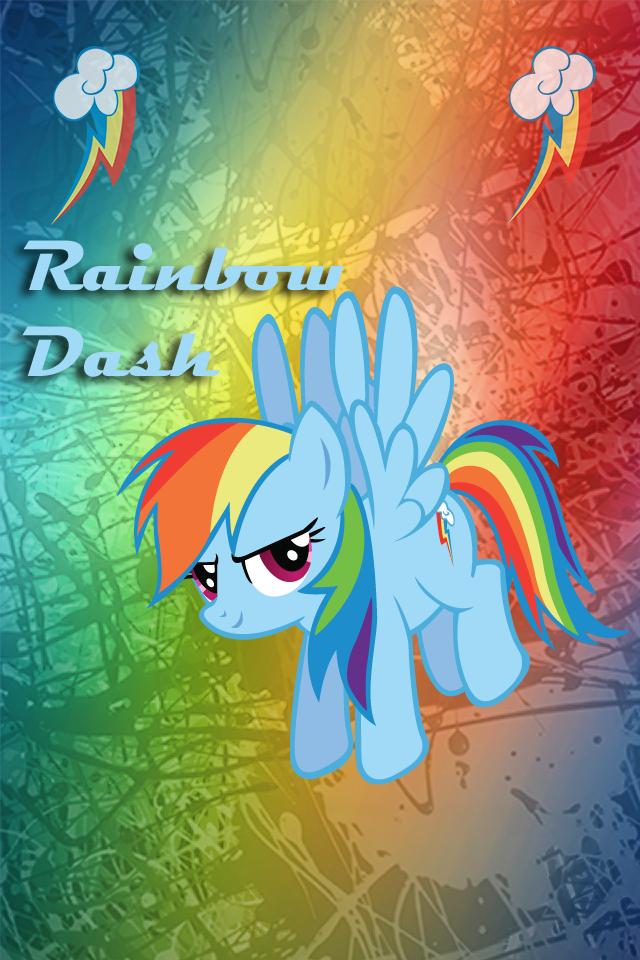 Rainbow Dash Iphone BG by TecknoJock