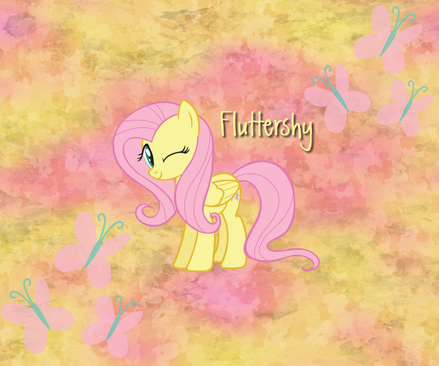 Fluttershy Android BG 960x800 by TecknoJock