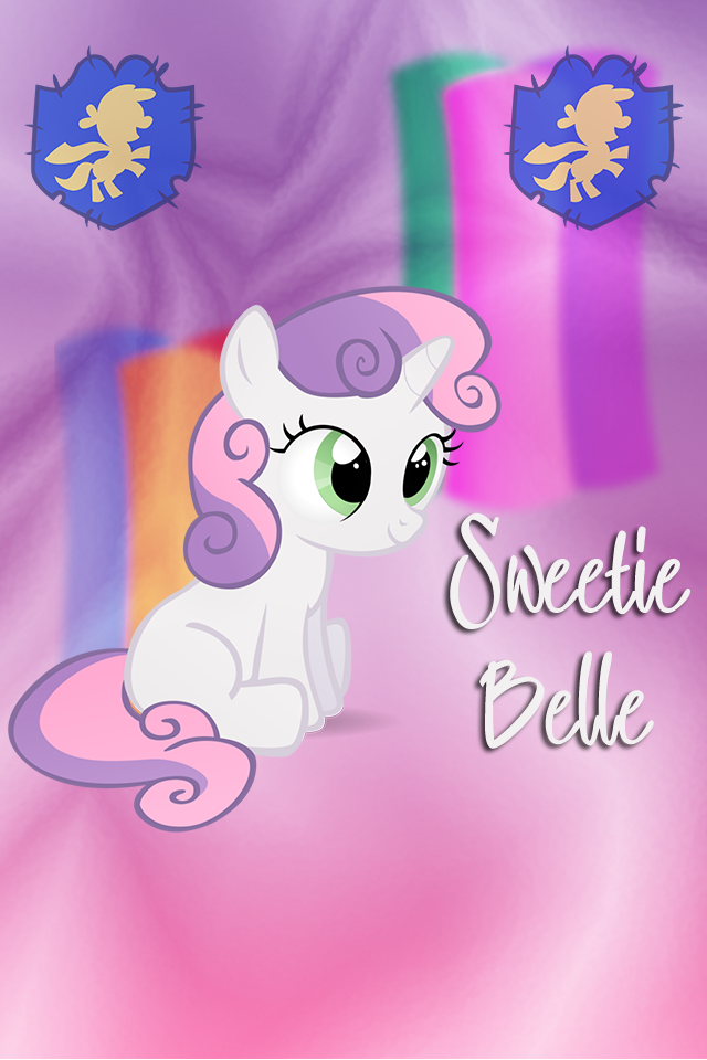 Sweetie Belle Iphone WP by TecknoJock