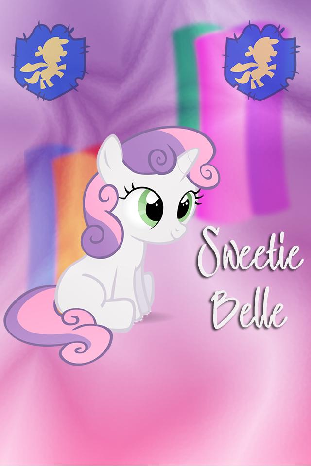 Sweetie Belle Iphone WP by TecknoJock