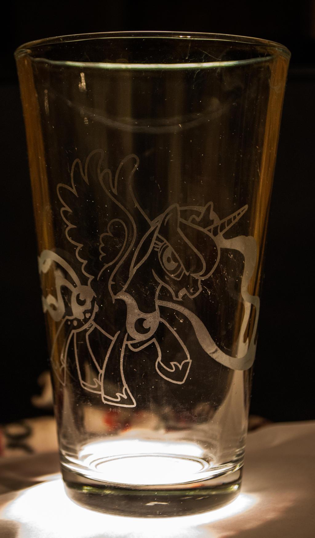 Luna Glass Etching by TecknoJock