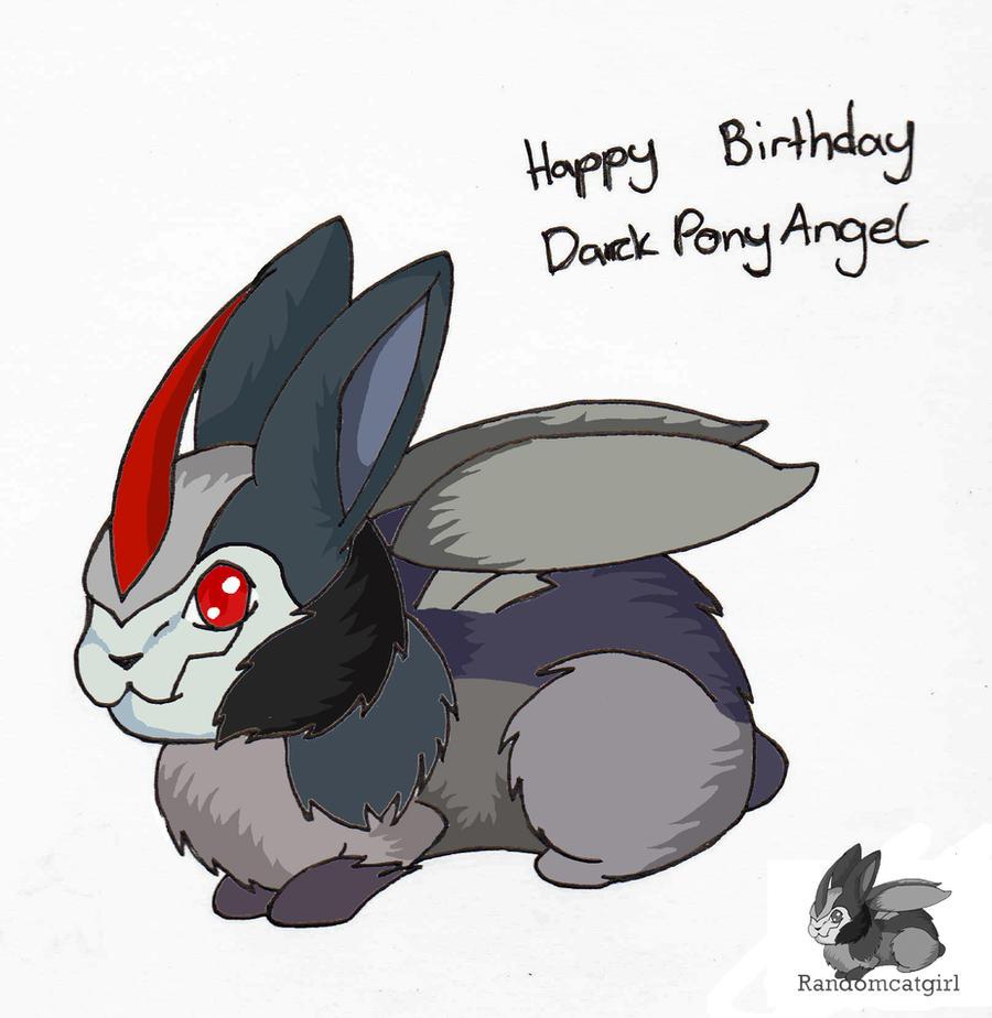 Starscream bunny B-Day pic for DarkPonyAngel by randomcatgirl