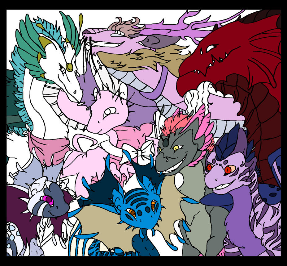Flight Rising Clan Edited-1 semi coloured by randomcatgirl