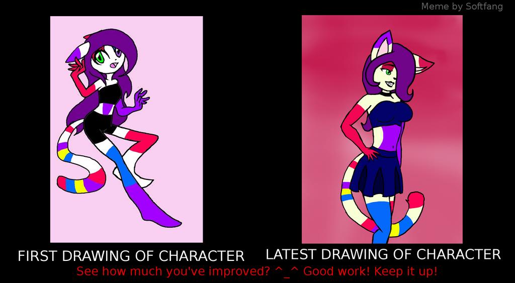 Then and now fursona by randomcatgirl
