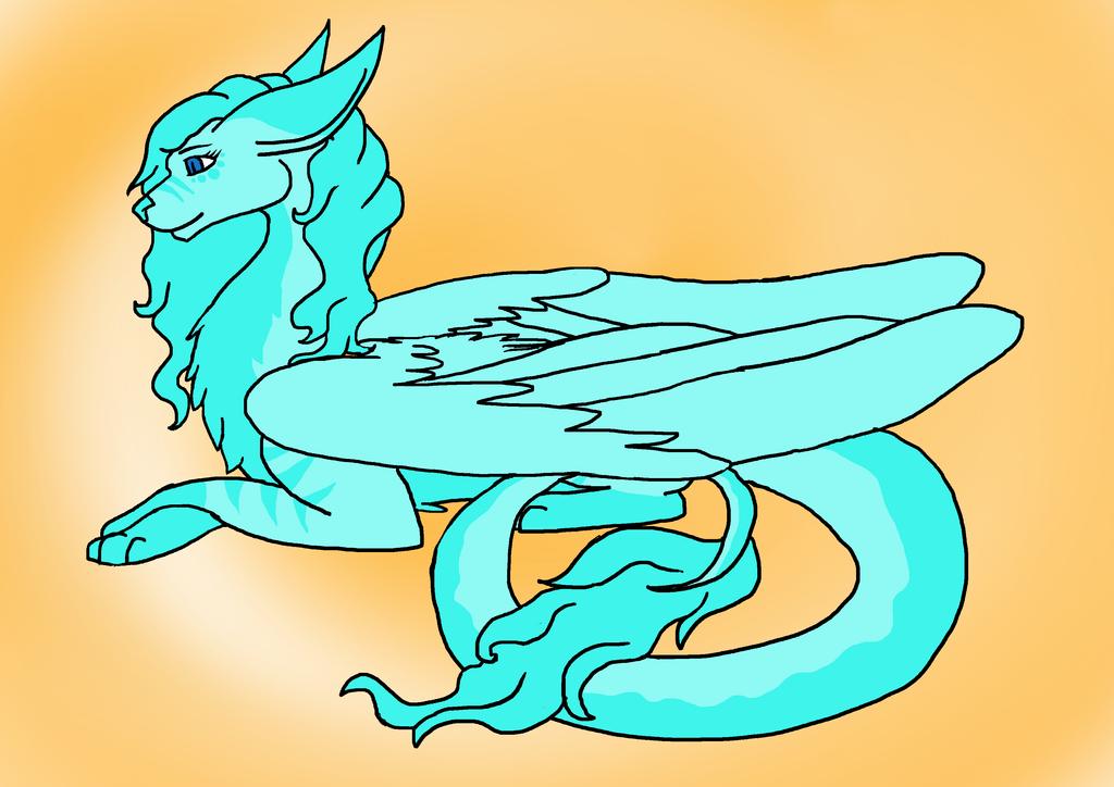 Dragon OC Blue Sapphire by randomcatgirl