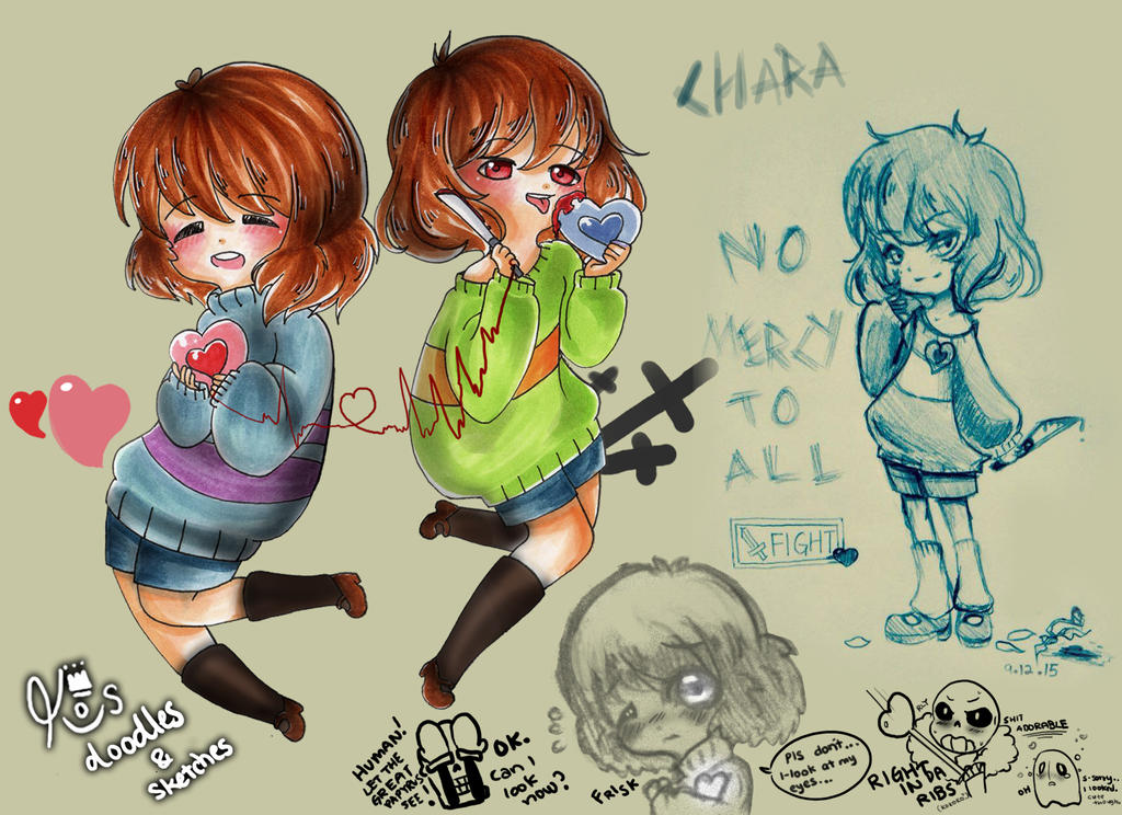 Undertale Doodles And Sketches 01 By Kirawong On DeviantArt