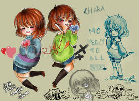 Undertale Doodles and Sketches 01 by kirawong