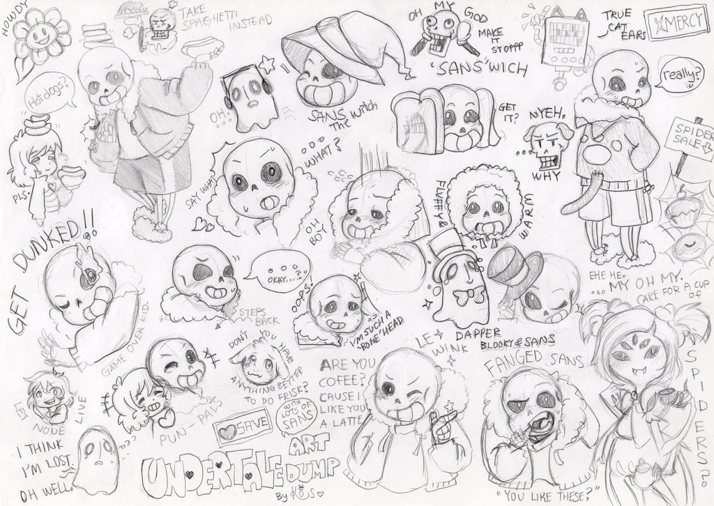Undertale Doodles And Sketches 02
