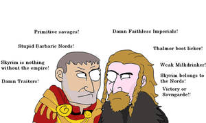 Ulfric and Tullius-Insults eachother by YsmirStormcrown