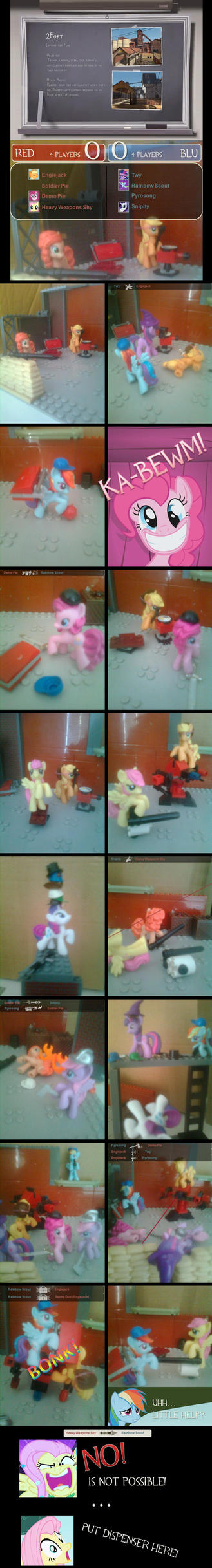 My LEGO Pony, Teamwork in Fortress by ReyJJJ