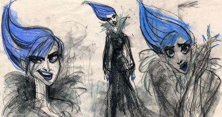 Early concept art of Frozen's Elsa by Trackforce