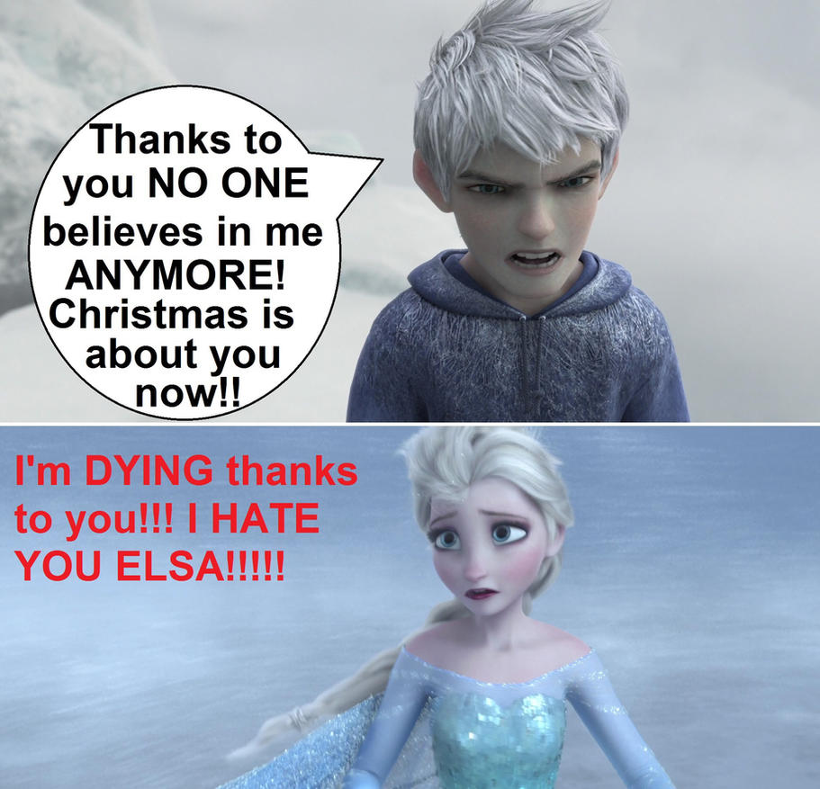 consequence of Elsa stealing Xmas from Jack by Trackforce