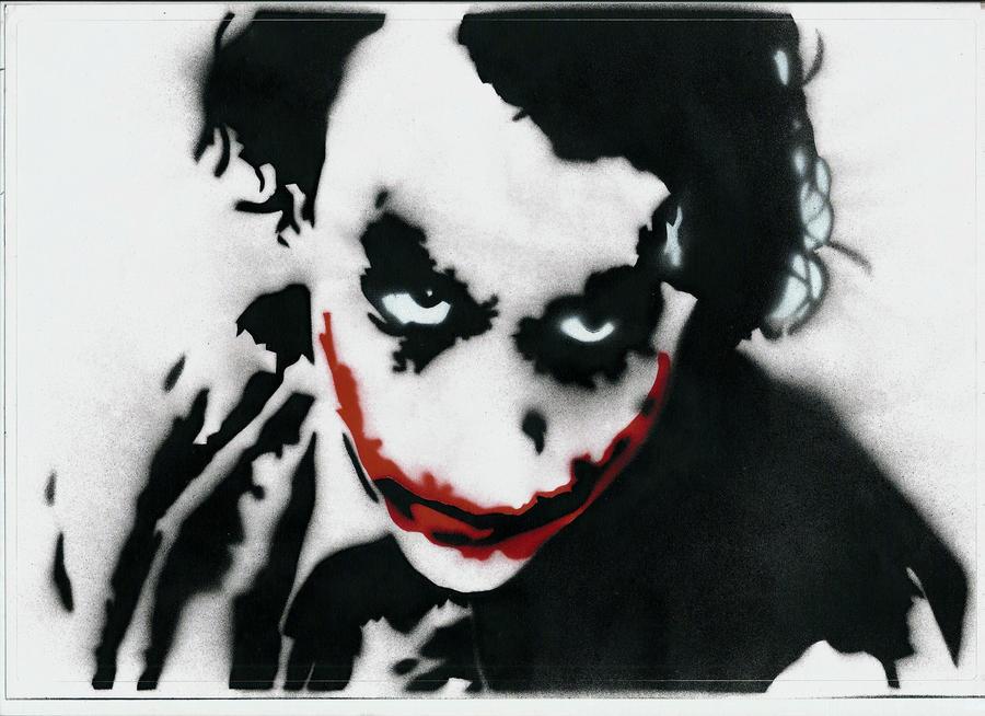 the joker stencil by streetisking on deviantart