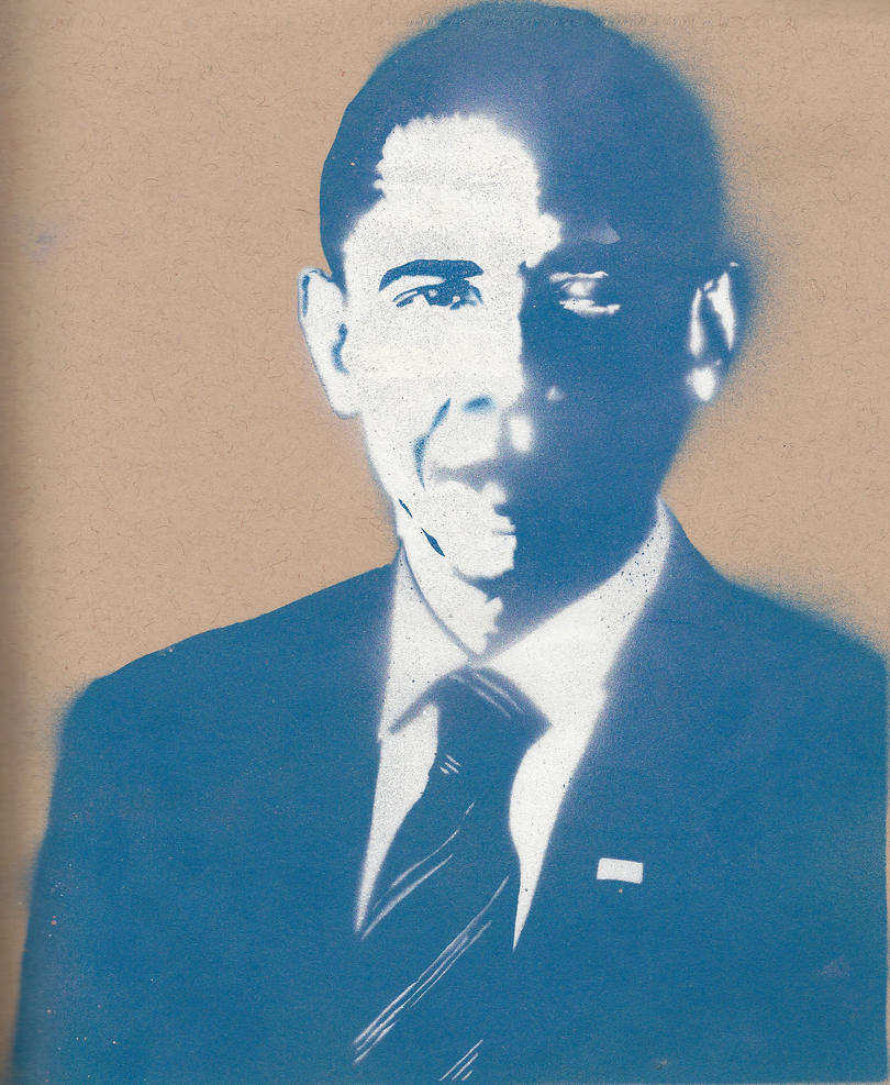 obama stencil by streetisking on deviantart
