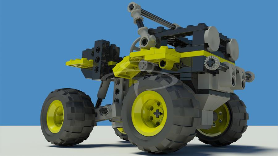 lego technic jeep 001 by rocneasta on deviantart. Black Bedroom Furniture Sets. Home Design Ideas