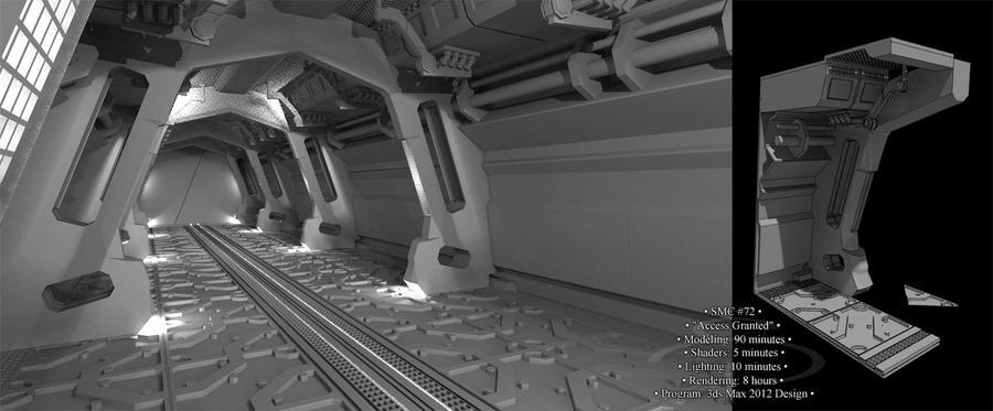 sci fi hallway 00 by rocneasta