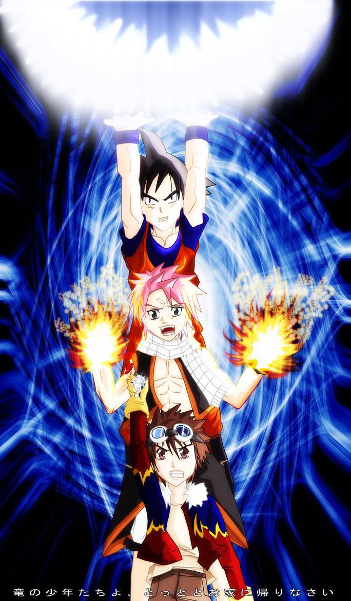 Three dragon boys by uzukun89 on deviantart - Anime boy dragon ...