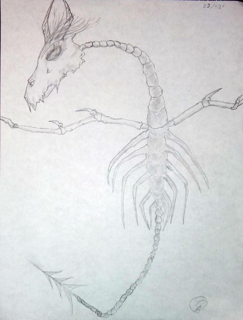 Bone Sea Dragon by PantheraSpiritus