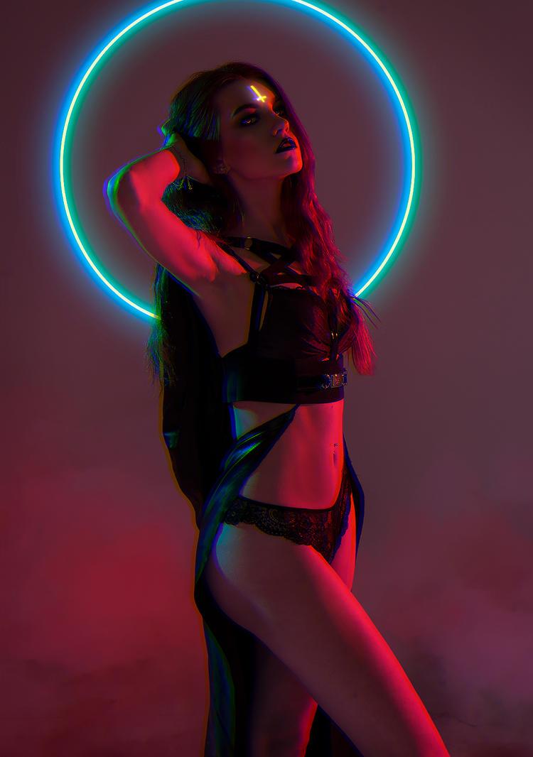 Neon Witch by KiryuFox