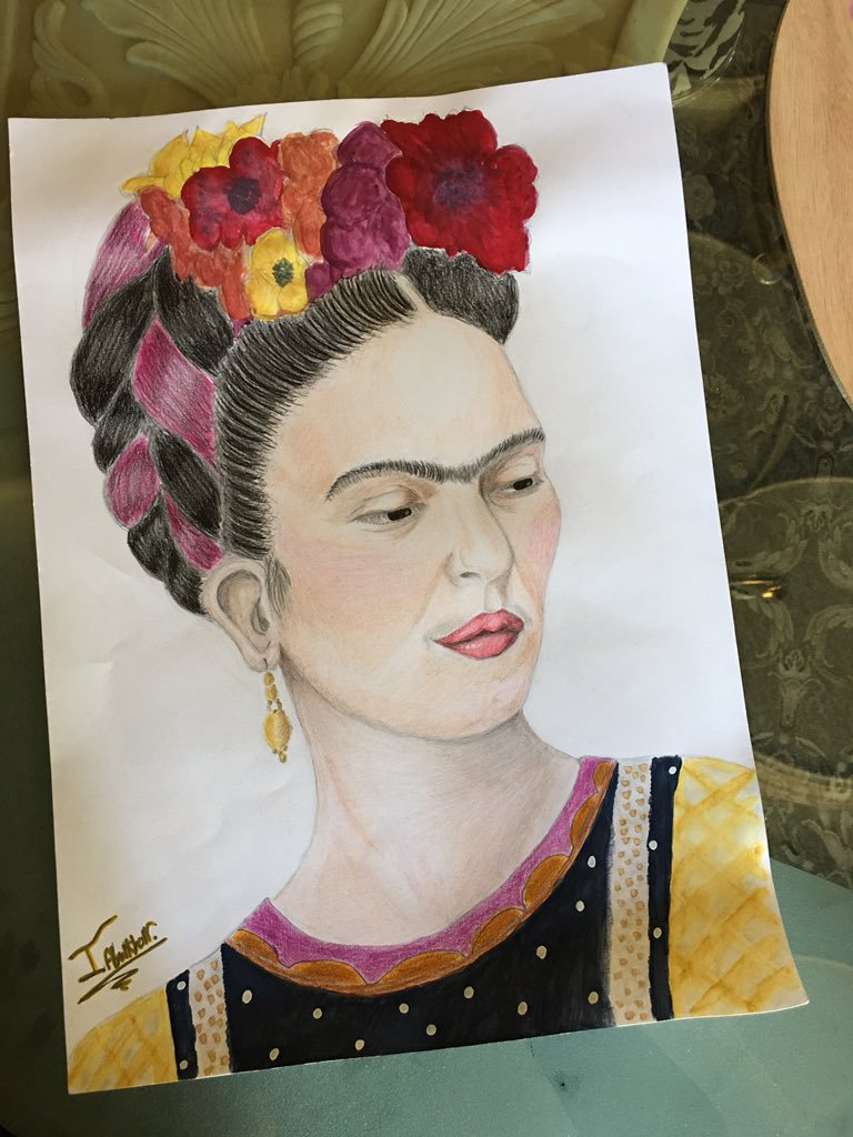 Frida Kahlo, Portrait. by Israawilldoit