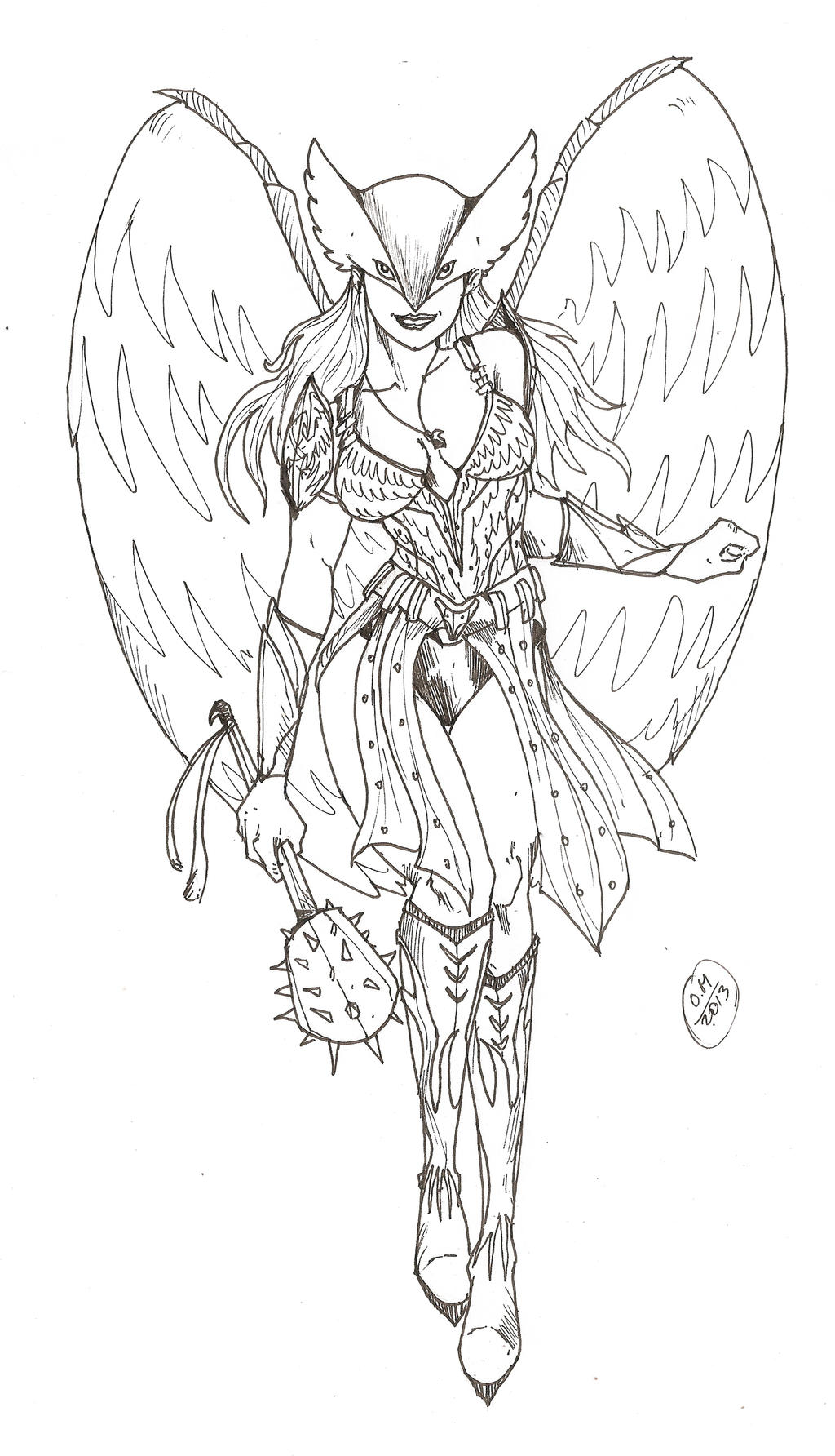 coloring pages of hawkgirl - photo#20