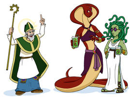 St Patrick vs the snakes
