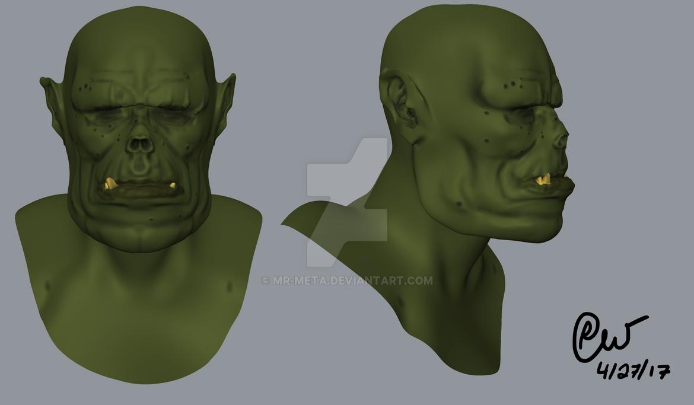 Orc Head Sculpt by Mr-Meta