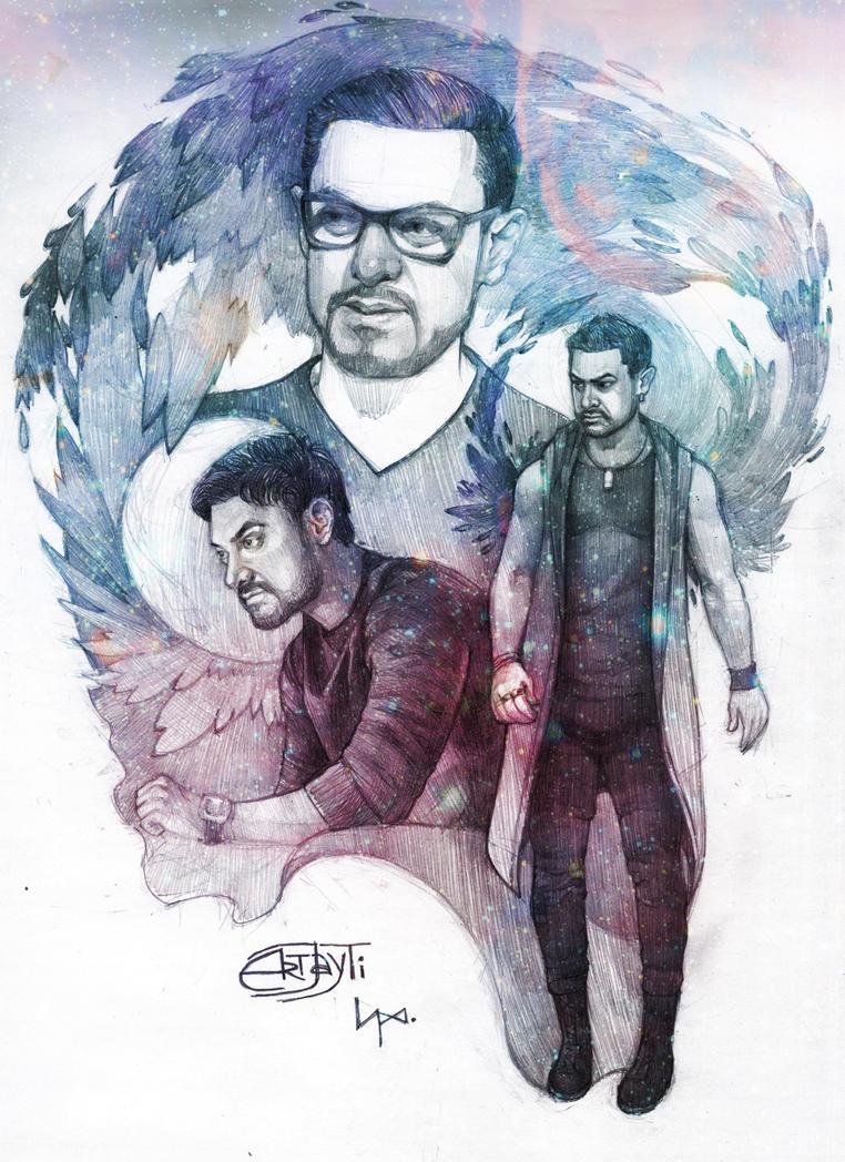 Aamir Khan 2 by ArtJayTi