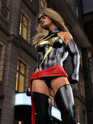 Ms Marvel before the fight by DahriAlGhul