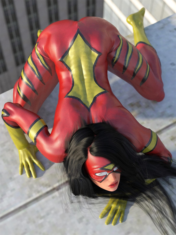 Spider-Woman crawl by DahriAlGhul