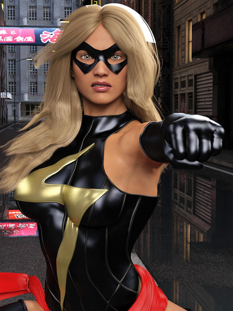Ms Marvel pose 02 by DahriAlGhul