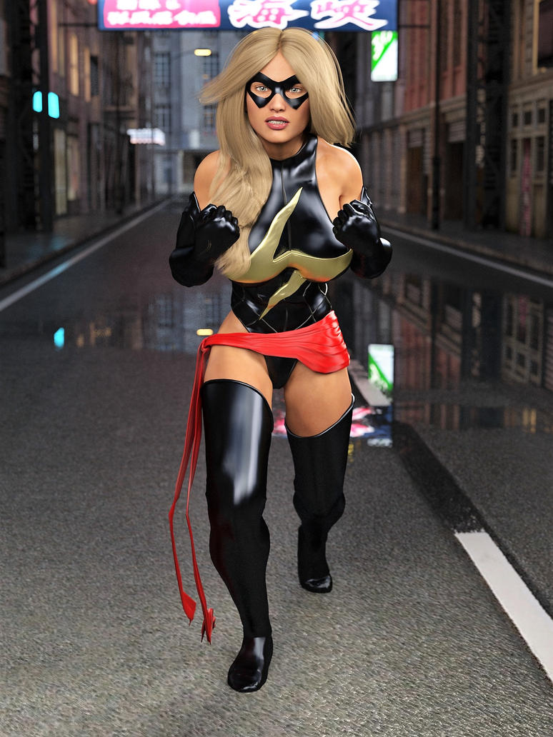 Ms Marvel pose 05 by DahriAlGhul