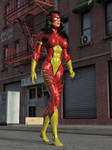 Spider-Woman vs Two Cops 01