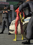 Spider-Woman vs Two Cops 05