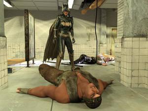 Batgirl vs Three Thugs 23