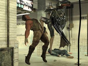 Batgirl vs Three Thugs 20