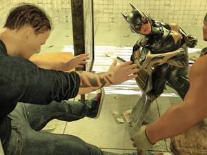 Batgirl vs Three Thugs 17