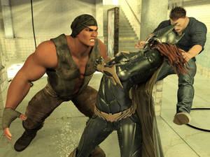 Batgirl vs Three Thugs19